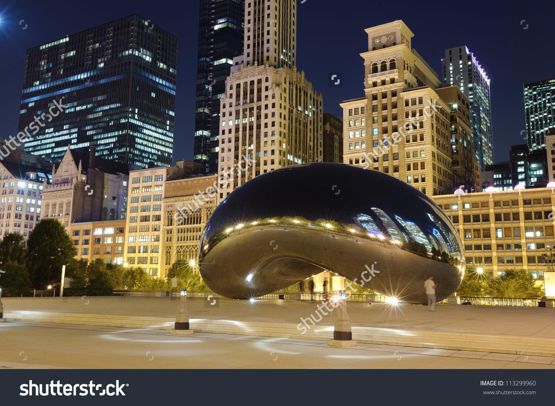 Millennium Park Chicago Cloud Gate Known Stock Photo 113299960.