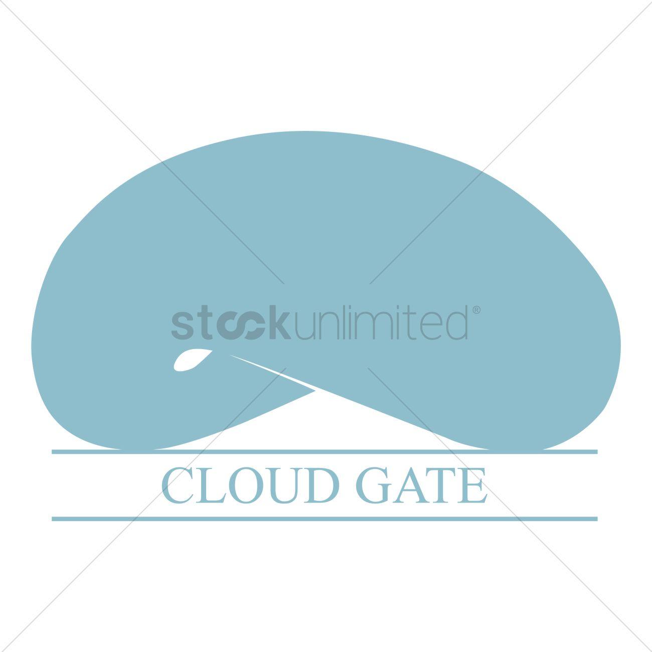 Cloud gate Vector Image.