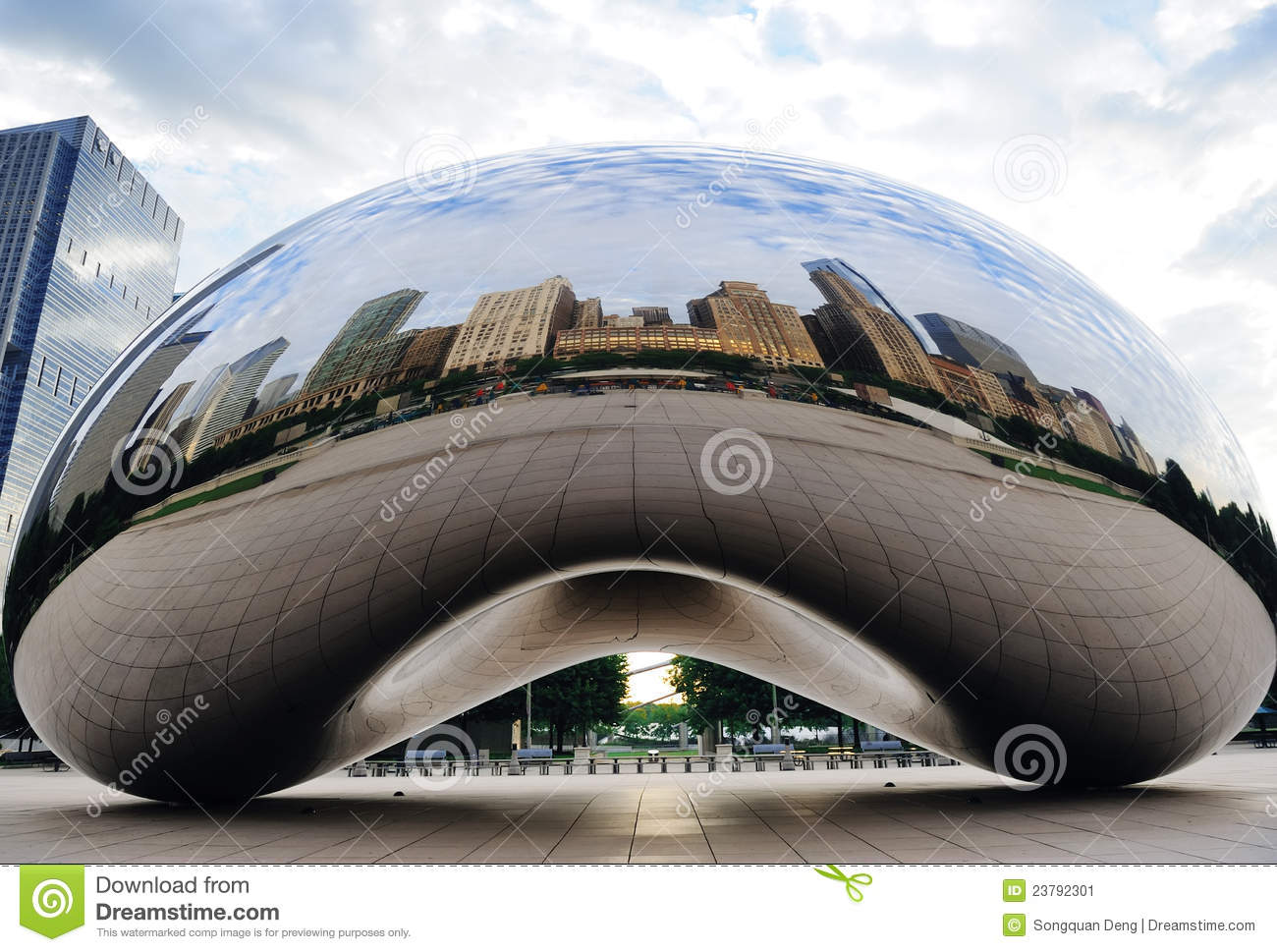 Cloud Gate Chicago Stock Photo.