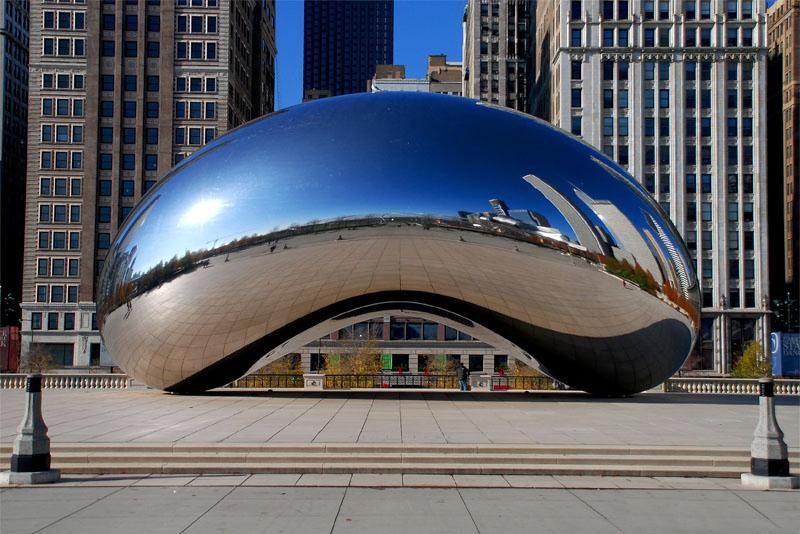 Cloud Gate (aka The Bean), by Anish Kapoor, AT&T Plaza, City of.