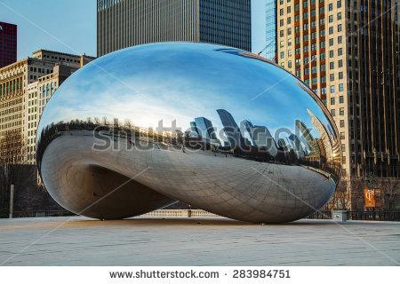 Chicago Bean Stock Photos, Royalty.