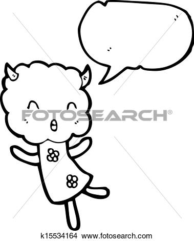 Clipart of cartoon thunder cloud head girl k15534164.