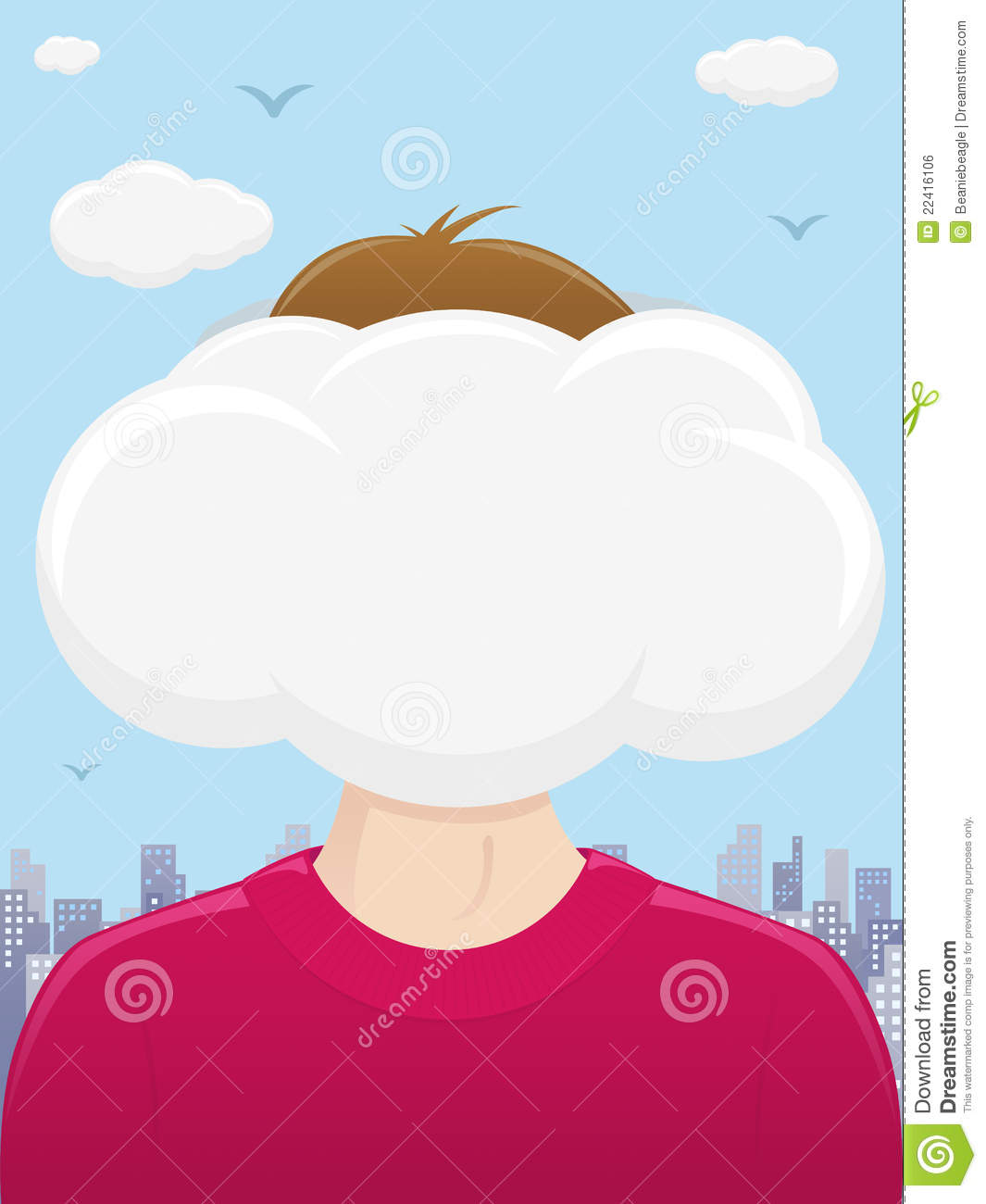 Head In The Clouds Royalty Free Stock Image.