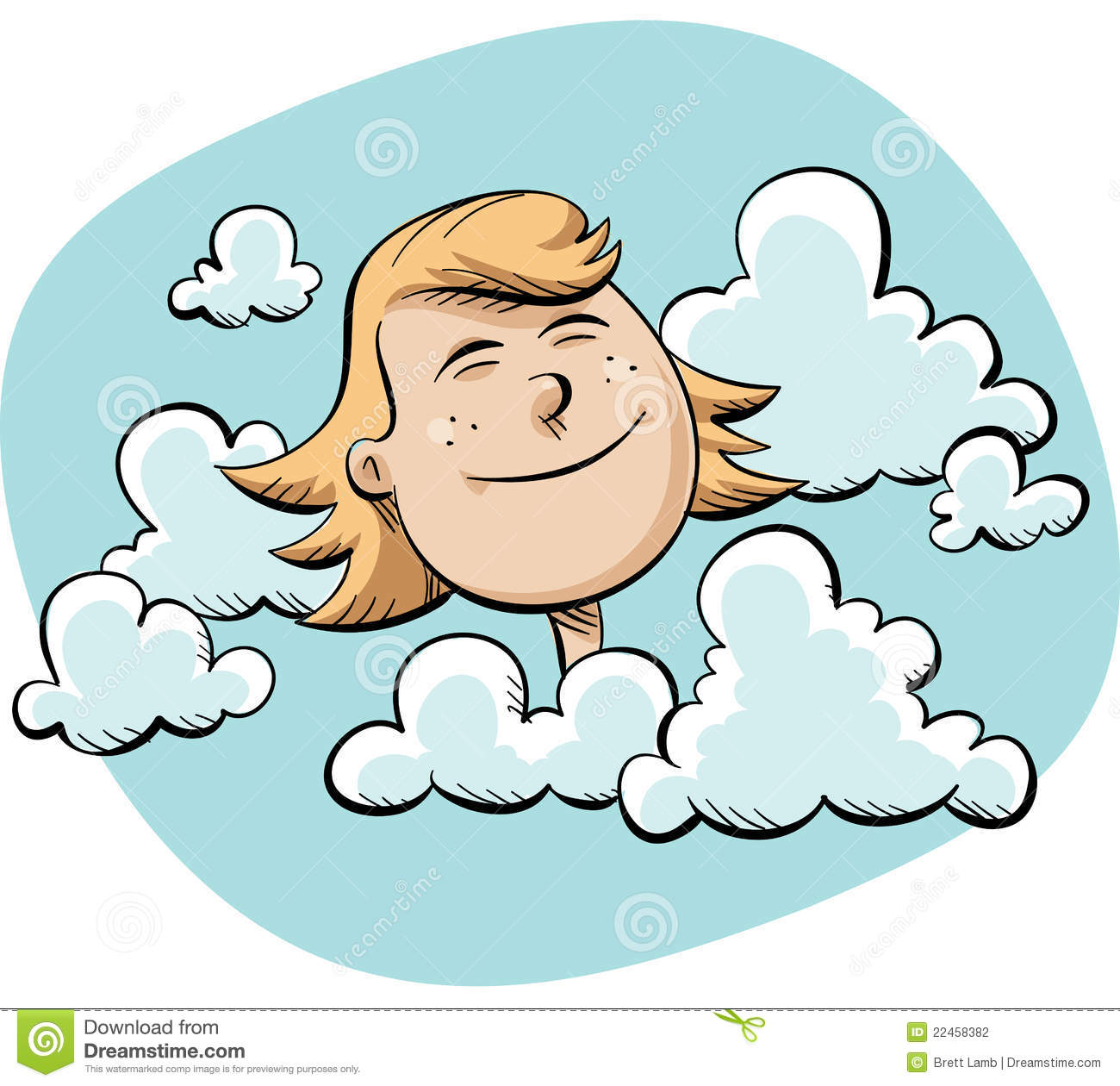 Head In The Clouds Stock Photography.