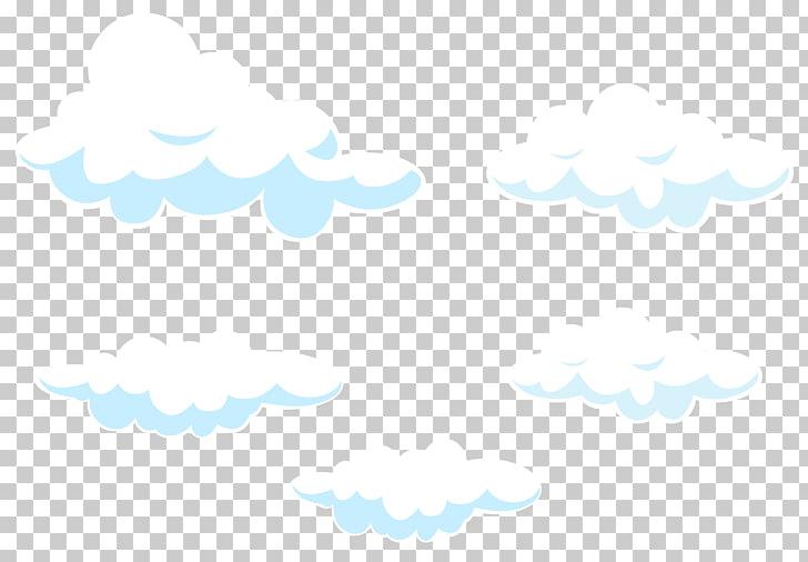 Sky Line Point Pattern, Cartoon Clouds Set Transparent.