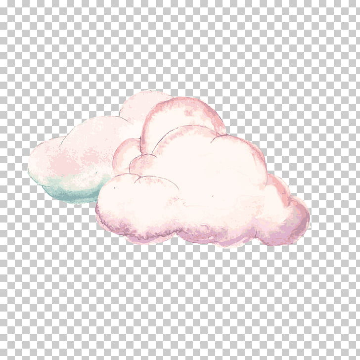 Cloud Pink, Pink clouds, white and pink clouds illustration.