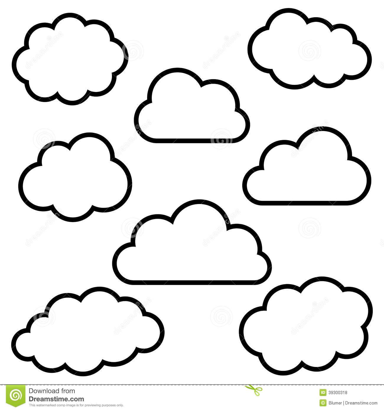 Cloud clipart outline.