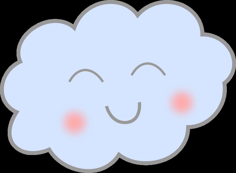 Happy cloud clipart.