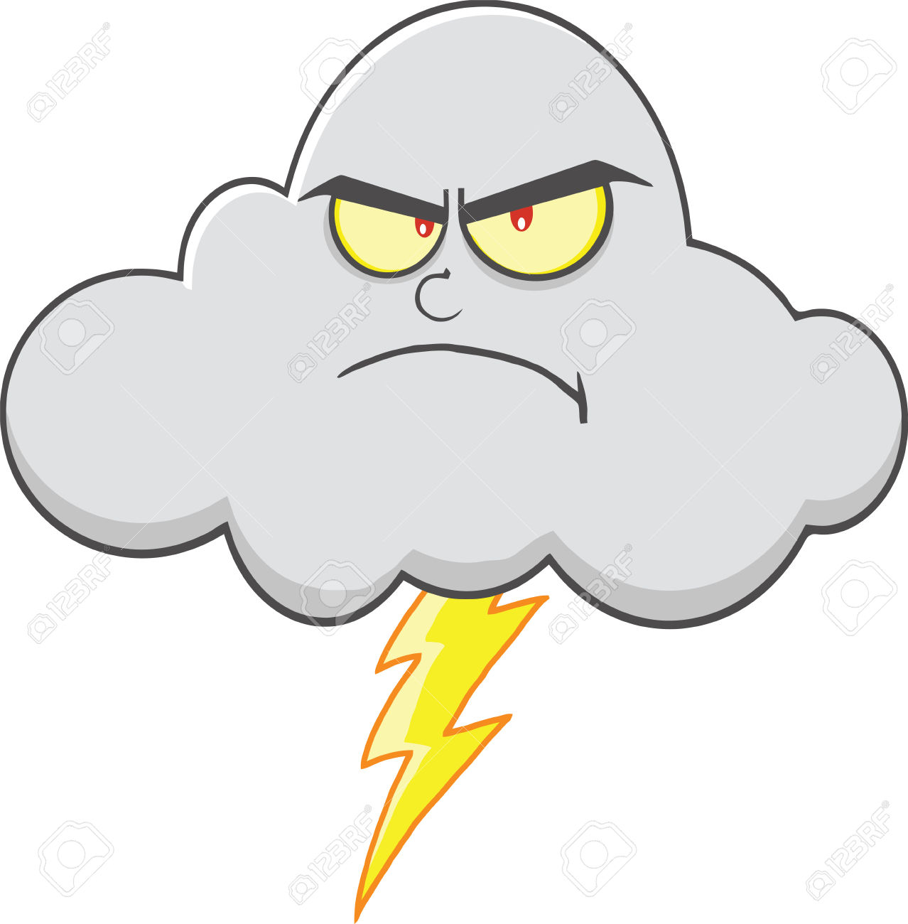Cloud lightning clipart.