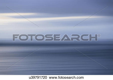 Stock Photography of The sea and sky over Puget Sound in.