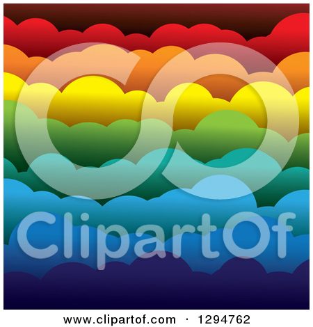 Clipart of a Geometric Background of Colorful Stars on White.