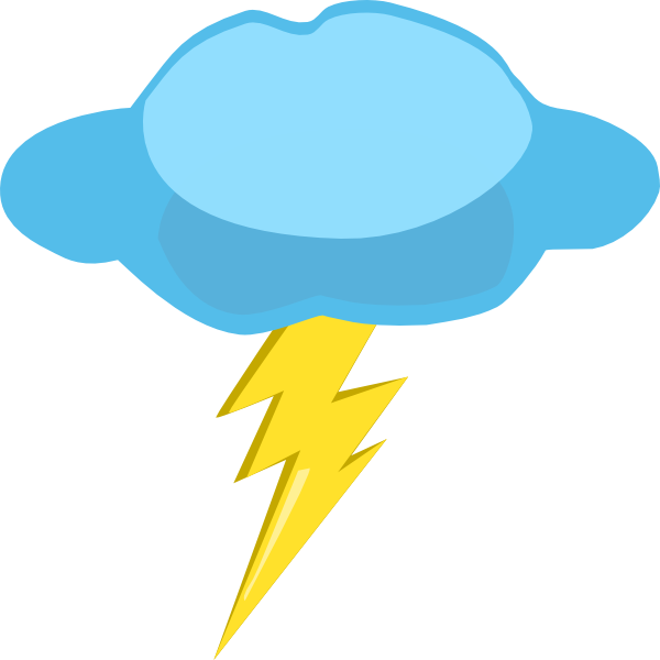 Clouds And Lightning Clipart.