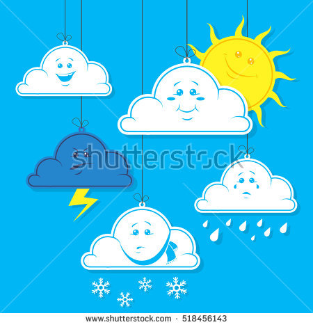 Weather Different Signs Stock Photos, Royalty.