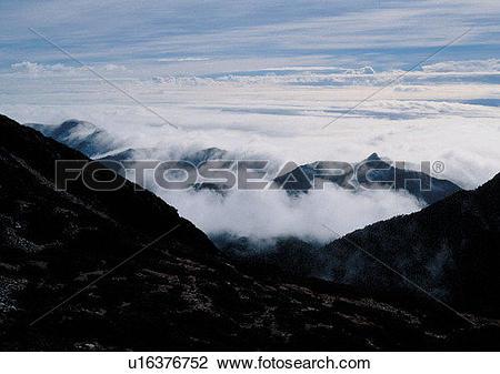 Stock Photo of scenery, daytime, light, sky, cloud, mountain.