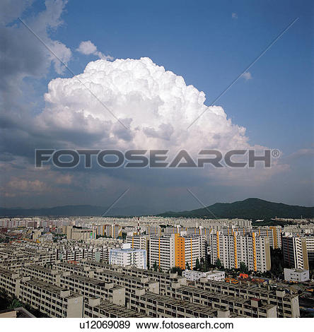 Stock Photograph of mountains, cloud, mountain, Residential.