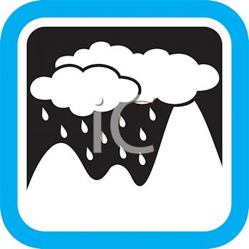 Cloud Mountain Clip Art.
