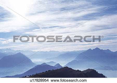 Stock Photo of Island, Clouds, mountains, mountain, cloud, Scenery.