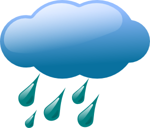Rain Cloud clip art.