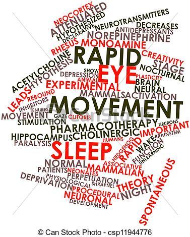 Stock Illustrations of Rapid eye movement sleep.