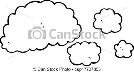Clipart Vector of cloud of smoke cartoon element csp17727853.
