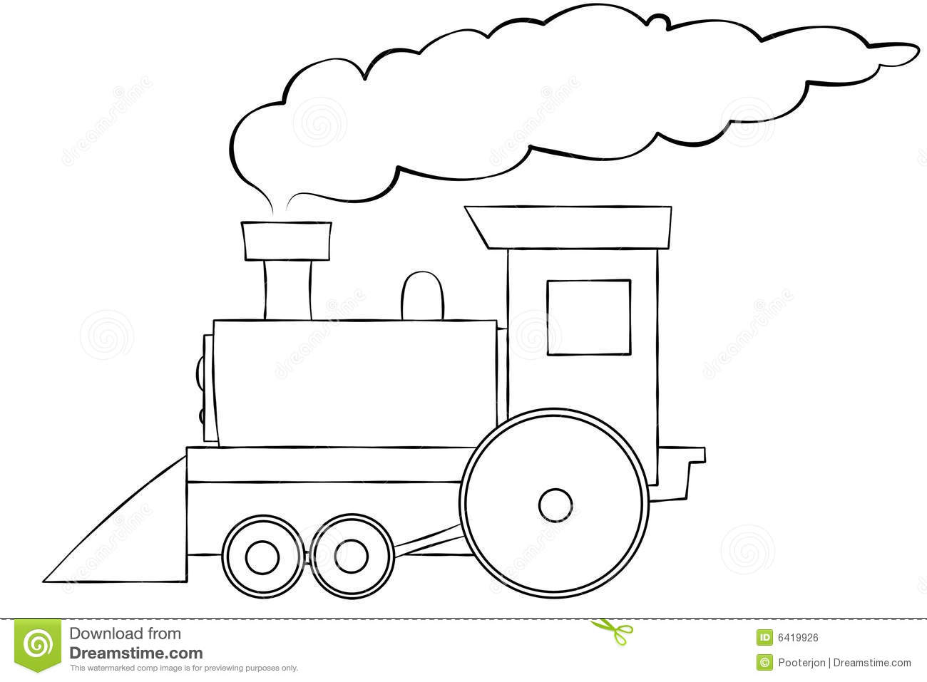 Train smoke cloud clipart.