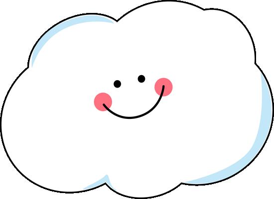 Happy Cloud Clip Art.