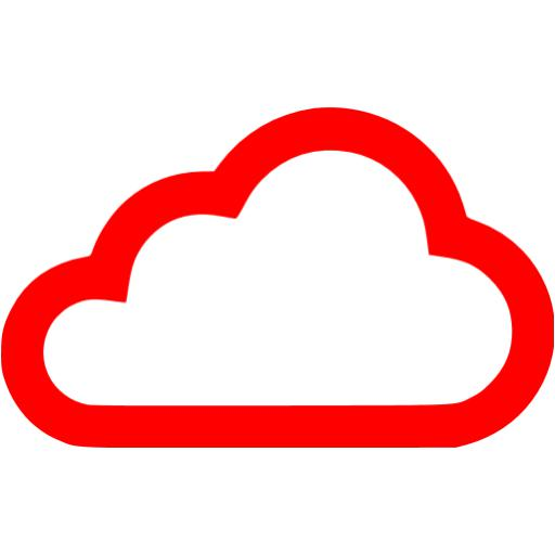 Red clouds icon.