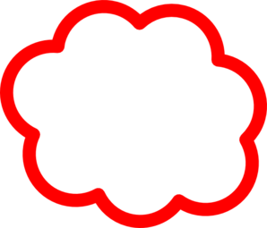 Red cloud clipart.