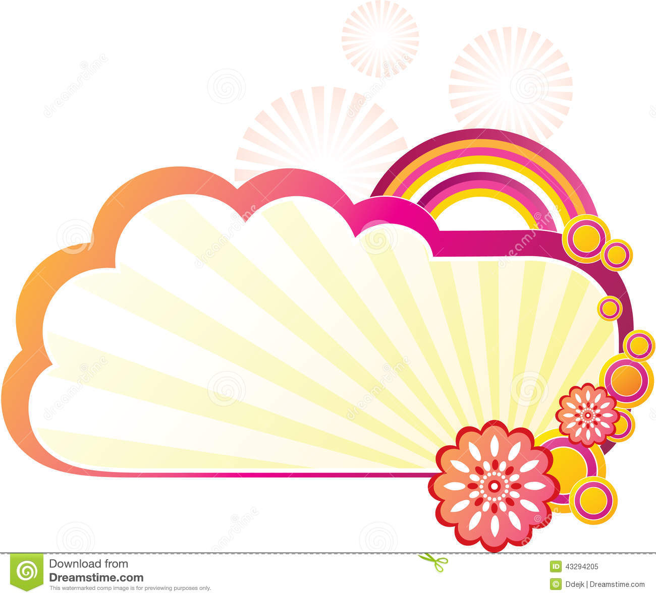 Cloud Shapes Collection Stock Illustration.