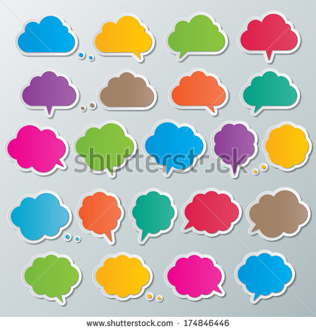 Timetable Background Design Color Cloud Shapes Stock Vector.