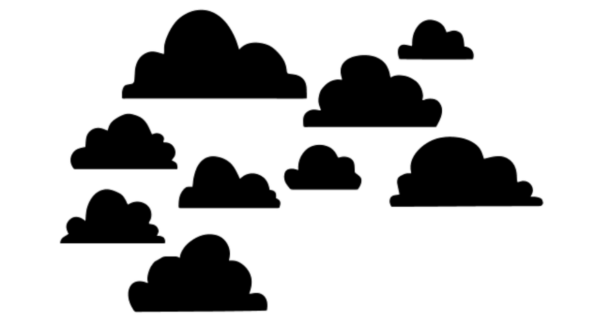 free clouds SVG file.