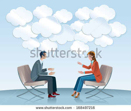 People Talking To Each Other Stock Images, Royalty.