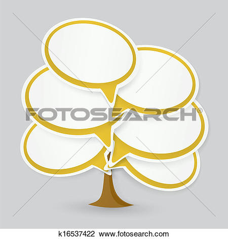 Clipart of Talking cloud tree k16537422.