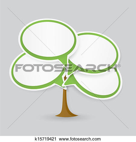 Clipart of Talking cloud tree k15719421.