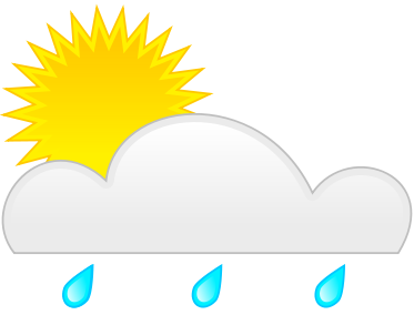 Clouds Sun Rain Clipart.
