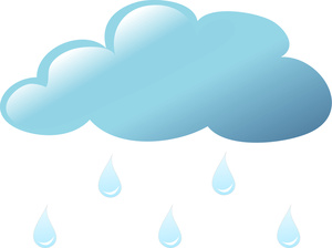 Free Of Clouds And Raindrops Clipart.
