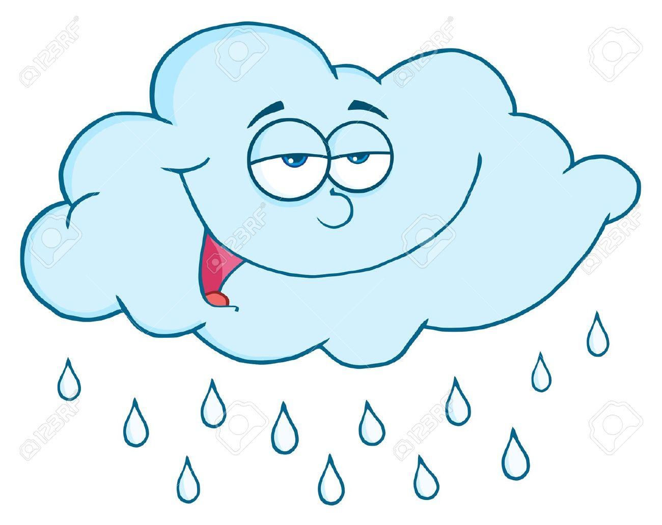 cloud with raindrops clipart 20 free Cliparts Download