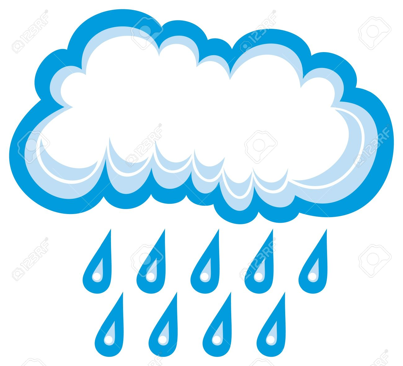 Cloud And Rain White Cloud, Cloud Icon, Cloud And Rain Drops.