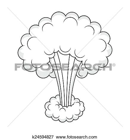 Clip Art of Comic Cloud Burst Effect Vector k24594827.