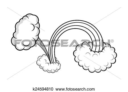 Clipart of Cloud Burst Effect Design k24594810.