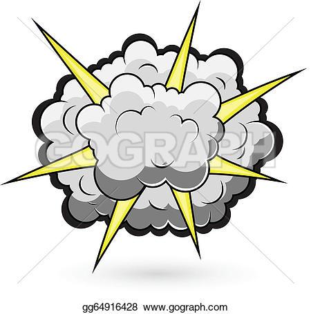 Cloud Burst Clip Art.