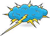 Cloudburst clipart.