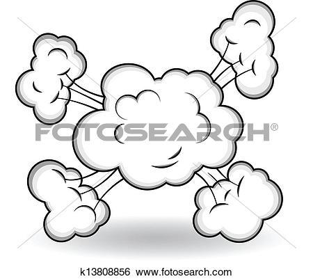 Clip Art of Comic Explosion Cloud Burst Vector k13808988.