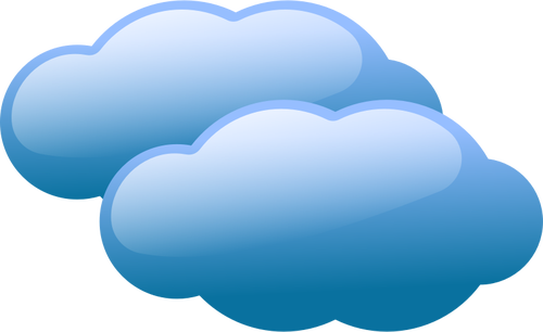 Vector illustration of weather forecast color symbol for cloudy.