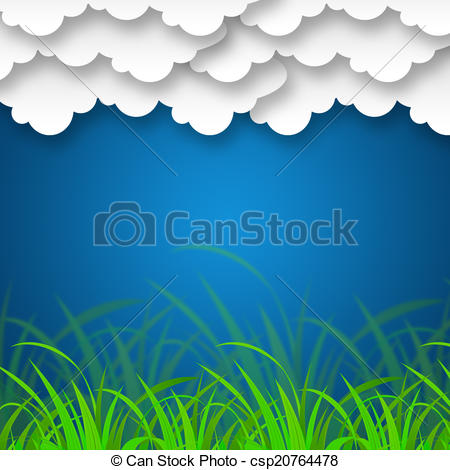 Stock Illustrations of Cloudy Sky Background Means Cloudscape Or.