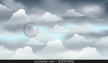 Cloudy sky theme image 3 stock vector.