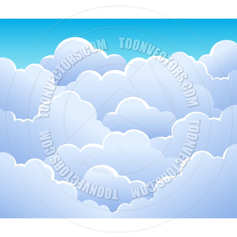 Cartoon Cloudy Sky Background by clairev.