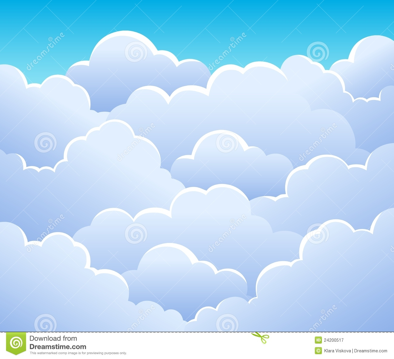 Cloudy Sky Background 3 Royalty Free Stock Photography.