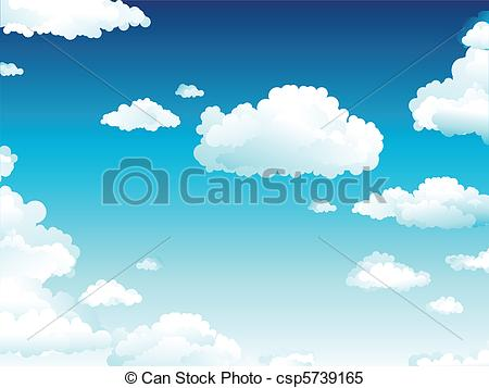 Clipart Vector of Cloudy Sky.