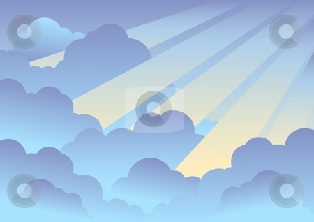 Cloudy sky background 2 stock vector.